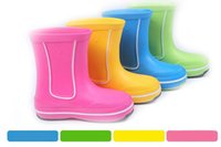 kids rain boots - SIZE Colorful Rubber Baby Rain Boots for Girls and Boys Shoes EVA Cute Cartoon Children Kids boots Rain