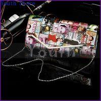 Women newspaper bags - 5 Colors European and American Fashion Magazine Clutch Bag Women PU Newspaper Purse Book Bag Versatile Papa Book Handbag R4013
