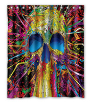 best curtain lining - Best Colorful skull lines vector Shower Curtain x180cm High quality Waterproof bath curtain