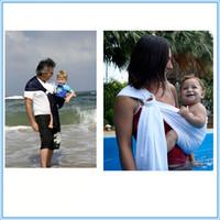 100pcs transpirable natación del bebé portador neto de poliéster y de secado rápido de las telas Material del bebé piscina Ducha Agua honda