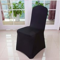 Cheap Hot sale,ivory Black White Spandex Stretch Chair Cover Lycra For Wedding Banquet Party Hotel Decorations