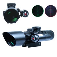 airsoft weapons - 3 x40 Tactical Rifle Scope Red Laser Dual illuminated Mil dot w Rail Mounts Combo Airsoft Weapon Sight Hunting