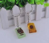 amber key - 10Pcs Fashion Jewelry Vintage Creative Noctilucent Amber Insects Charm Key Ring Fit Key Chains Accessories C736