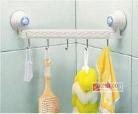 Wholesale Multifunction racks bathroom towel hook Suction wall linked hook high quality