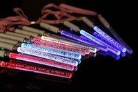 La venta caliente de la Navidad juega el resplandor de la alegría del LED pega la varita de acrílico del flash de la burbuja para los juguetes de los cabritos