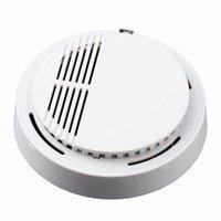 Envío Gratis Color Blanco Seguridad para el Hogar fotoeléctrico inalámbrico Fuego Detector de humo alarma del <b>sensor</b>