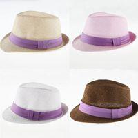 Cheap Kids Straw Fedoras Hat Best Fashion Summer Sun Hat