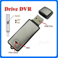 Wholesale 2 in Mini Portable Digital Voice Recorder Spy Cameras GB GB GB USB Flash Drive spy Camera Recording Camcorder