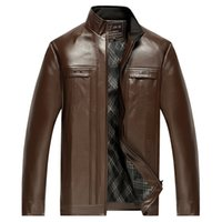 Wholesale Leather Jacket For Large Men - Fall-Winter Leather Jackets Men Faux Fur Coats Male Casual Leather Jacket Thicken Outwear Overcoat For Man Large Size 4XL W59-WZ