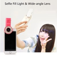 Wholesale Clip Mini Spot Selfie Fill LED Light Portable Round Ring Flash for iPhone Plus