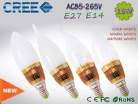 Wholesale led candle light w w w W W e14 e27 led spotlight bulb tubes Warm White White e12 led v v V
