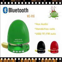 Wholesale Brand new Olddays WS R16 egg style HIFI tone light portable wireless bluetooth speaker with FM accept TF usb