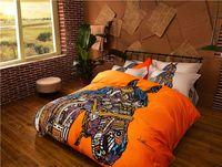 Cheap Luxury Horse Unicorn Bedding Set Kids 100% Cotton Cat Deer Camel Comforter Duvet Cover Set Bedding Full Queen King Size