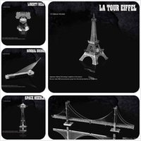 Wholesale 3D puzzle World historic sites Eiffel Tower Leaning Tower of Pisa Burj Al Arab Big Ben Empire State Building
