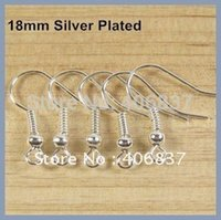 Wholesale High quality MM Silver plated Earring Hooks