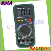 Wholesale pc MASTECH MY64 Digital Multimeter DMM Frequency Capacitance Temperature Meter Tester w hFE Test Ammeter Multitester