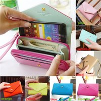 chinese bags - Newest Arrivals Womens Lady Crown Purse Clutch Wallet bags Envelope Case Pouch For Galaxy S2 IPhone Bx47