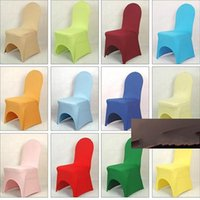 Wholesale New Universal White spandex Wedding Party chair covers White spandex lycra chair cover for Wedding Party Banquet many color