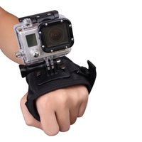 Wholesale 2015 Glove style Wrist Band Mount Strap Accessories screw for GoPro Hero Camera