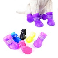 Wholesale retail Dog s Shoes Pet Shoes Pet Boots Anti Slip Skid Waterproof Size S M L XL XXL