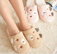 animal pattern fabric - Lovely Rabbit women winter slippers animal pattern home slippers for women indoor shoes slipper pink coffee new arrive color free ship