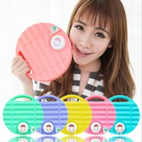 Wholesale Creative Macaron Style PE Hot Water Bottle Hand Warming Bag Solid Color Winter Hand Warmer for Home Office Fast Shipping