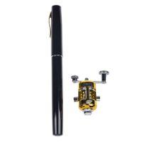 aluminum light poles - Mini Portable Pocket Fish Pen Shape Aluminum Alloy Fishing Rod Pole Reel JOY Colors With