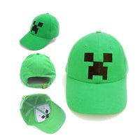 Wholesale Minecraft JJ Monster Creeper Toy Hat baseball hat Sun hat Peaked Cap Children s Caps Hats