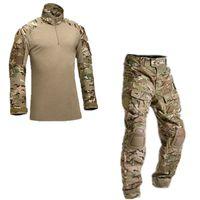 achat en gros de uniforme de l'armée xl-Tactique armée militaire uniforme de vêtements de l'uniforme militaire de combat pantalon tactique avec des genouillères camouflage vêtements de chasse