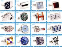 Wholesale 76 mens cufflinks for men shirt set hot sell wedding women cuff links shirt fashion classic steel cufflink