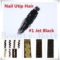 u tip hair extensions - Pre Bonded U Tip Keratin Human Hair Extensions Mongolian Keratine Nail Tip Hair g g s pc
