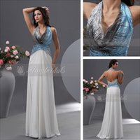 Real Photos Halter Chiffon Real Picture Halter Neck Sequined Evening Dresses Evening Gown White Chiffon Prom Dress Empire Waist Backless Evening Dress Party Dresses