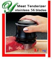 Wholesale Meat Tenderizer stainless steel blades Manual Hammer Pounder safe lock cap Tenderizing bbq grill Steak Pork pounding Mallet kitchen tools