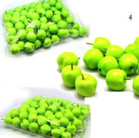Wholesale Artificial Fruit Green apple Simulation apple plastic apple home wedding Decoration orange Strawberries carambola peach chili