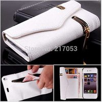Cheap Mobile Phone Cases For iPhone 5 5s Luxury Zipper PU Leather Wallet Flip Hard Case Cover For iphone 5 Card Holder Multi Color