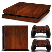 ps4 console - Cool Wooden Style Vinyl Decal PS4 Skin Stickers Protector For PlayStation Console Skin Stickers for PS4 Controller