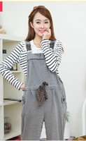 Wholesale Maternity clothing spring fashionable casual maternity bib pants maternity pants trousers
