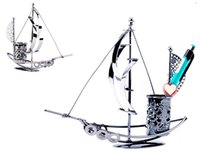 best office desks - Novelty Boat Shape Iron Pen Holder Style Fashion Pencil Holder Office Desk Organizer Best Gift for Friends