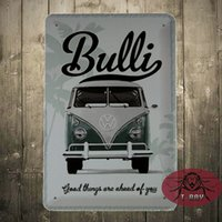 aluminum advertising - VW VOLKSWAGEN CAMPER VAN BUS BULLI EMBOSSED D METAL ADVERTISING SIGN X20CM