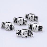 Wholesale unique design animal shape silver beaded charm bracelet