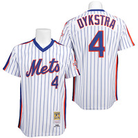 throwback jerseys - Baseball Jerseys New York NY Mets Throwback Jerseys Lenny Dykstra White With Blue Pinstriped Home Authentic Stitched Jersey
