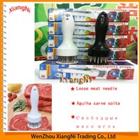 Wholesale 2015 Profession Metal Hammer Meat Tenderizers Needle With Stainless Steel Kitchen Gadgets Cooking Tools order lt no track