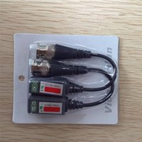 Wholesale Video balun Transceiver Cable Camera CCTV BNC CAT5 Video Balun Transceiver Cable with packing FOR Camera CCTV