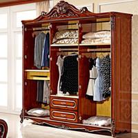 bedroom storage wardrobes - Six storage closet door Paphia European wardrobe marriage room home preferred American wardrobe MS106
