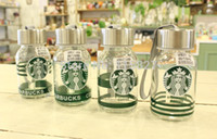 Glass glass water bottle - Mini Starbucks drinking bottle Children Starbucks water bottle Glass water mug Outdoor drinking bottle New