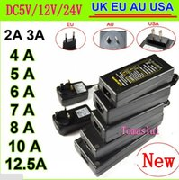 Wholesale EU US UK AU Power Supply Adapter Transformer AC V to DC V V V A A A A A A A LED Strip Light driver Converter
