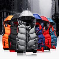 Wholesale Fall casual waistcoat brand down jacket vest men undershirt