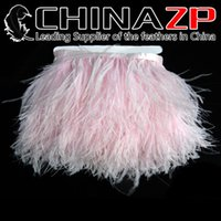 balls width - CHINAZP Crafts Factory yards cm inch Width Beautiful Baby Pink Ostrich Feather Fringe Trim for Masquerade Balls