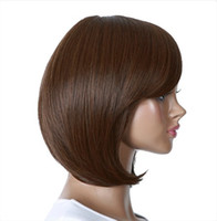 Wholesale Heat Resistant Synthetic Bobo colors Short Straight Hair Wigs for Women Wigs