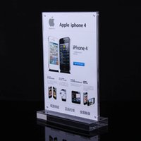 Wholesale air express elegant A4 size acrylic advertising display card solid pure color